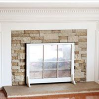Want a stone fireplace, but not the cost. Wait to you see what I did using a product called Air Stone for under $160 | InMyOsneStyle.com | AirStone