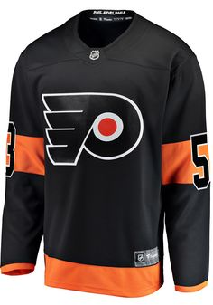 Take your Flyers support to the ice in this Philadelphia Flyers Black Mens Breakaway Alternate Hockey Jersey! Rally House has a great selection of new and exclusive Philadelphia Flyers t-shirts, hats, gifts and apparel, in-store and online. Jersey Designs, Ice Hockey Jersey, Flyers Hockey, New Philadelphia, Nhl Chicago, Fabric Letters, Team Names, Bullies, Photoshop