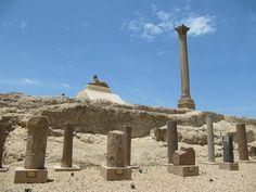 Pompey's Pillar Overview, Alexandria, Egypt