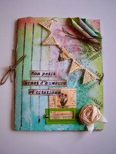 art journal//sweet!  The banner is super cute.  Rolled paper - check!