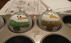 What to Do With Leftover Paint: Painted Ornaments