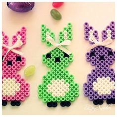 Easter bunnies hama beads by diysweden