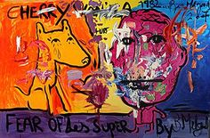From Saatchi Gallery, Bjarne Melgaard, Untitled (Fear of Les Super) Oil on canvas, 200 × 300 cm Art Gallery, Institute Of Contemporary Art, Modern Contemporary, Saatchi Gallery, Scary Art, Colorful Paintings, Art Day, Lovers Art, Fine Art