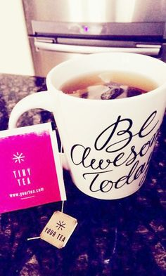 Tiny Tea by Your Tea is a great way to cure bloating. BE AWSOME Today!