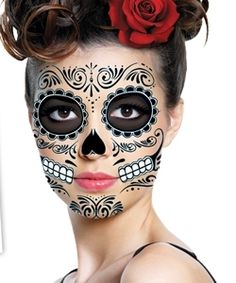 Day-of-the-Dead-Dead-Black-Halloween-Skull-Full-Face-Temporary-Tattoo-Costume