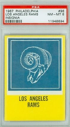 1967 Philadelphia Football 96 Rams Insignia PSA 8 Near-Mint to Mint by Philadelphia. $12.00. This vintage card featuring Rams Insignia is # 96 from the 1967 Philadelphia set