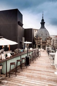 ALHÓNDIGA TERRAZA, Bilbao, Spain - This old wine cellar is Bilbao's new attraction for architect lovers. And don't miss its open air terrace!