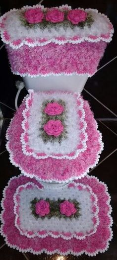Set De Bano Tejido En Crochet Paso A Paso : Ps crochet and tejidos on