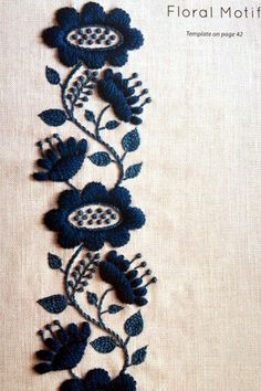 Simply Stitched: Beautiful Embroidery Motifs and Projects with Wool and Cotton Hand Embroidery Flowers, Hand Embroidery Patterns, Floral Embroidery, Beaded Embroidery, Cross Stitch Embroidery, Machine Embroidery, Embroidery Scissors, Embroidery Books, Sashiko Embroidery