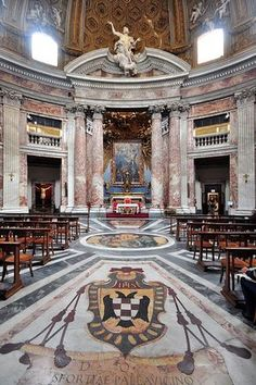 Sant'Andrea al Quirinale, Rome Italy. Transaltion: Church of Saint Andrew's at the Quirinal, Rome Italy Neoclassical Architecture, Baroque Architecture, Verona, Siena, Renaissance, Italian Life, Church Interior, Episcopal Church, Vatican City