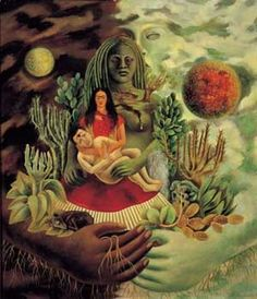 Frida Kahlo The Love-Embrace of the Universe - click through for full article