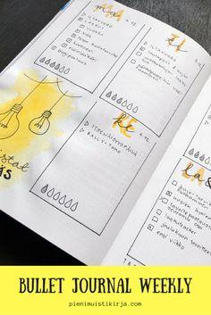 Bullet journal viikkoloki #kalenteri #weeklyspread