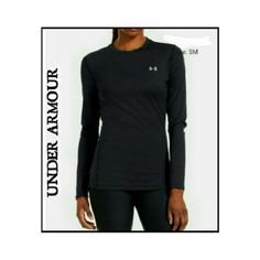 BLACK UNDER ARMOUR LONG SLEEVE V NECK TOP BLACK UNDER ARMOUR LONG SLEEVE V NECK TOP Has a little Seahorse emblem on right side top. 95% Polyester 5% Elastane  V NECK Under Armour Tops Tees - Long Sleeve