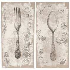 Bring culinary-inspired elegance to your kitchen or entryway with this upholstered wall decor, showcasing a flatware motif and acanthus leaf details.  ...