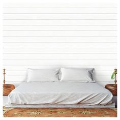 Bedroom Ideas, totally DIY decorating ideas to fashion a charming as well as snug relaxation. For another amazing info , press the pin-image 4864424375 this second. Faux Shiplap, White Shiplap, Shiplap Fireplace, Bedroom Inspo, Bedroom Decor, Bedroom Ideas, Headboard Ideas, Peel And Stick Shiplap, Accent Wall Bedroom