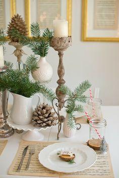 Domestic Fashionista: Natural Christmas Tablescape
