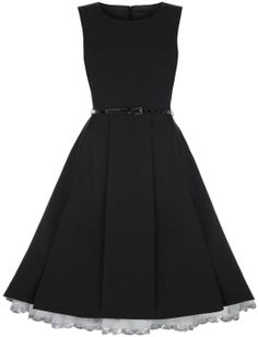 Amazon.com: Lindy Bop 'Talia' Classy Vintage 1950's Pleated Flared Dress: Clothing