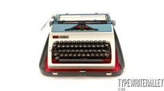 Red White & Blue. ERIKA 42 1976, Erika typewriter, vintage typewriter, portable typewriter, manual typewriter, working typewriter.