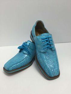 577d18c9f3ec Boys Youth Turquoise Shoes With Laces Hugo Vitelli Style K7229TRQ Sizes  12.5 - 3  HugoVitelli