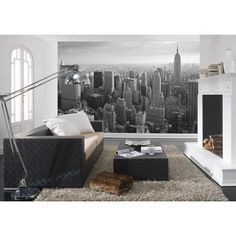 MANHATTAN MURAL - #Bloompapers #Wallpapers #Home #Deco #Mural #Illustration