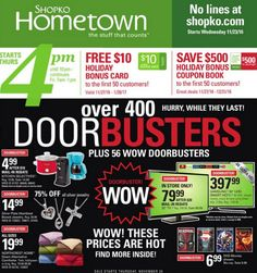 Shopko has released its 2016 Black Friday ad with doorbuster deals starting on Thanksgiving Day at 7 p.m.
