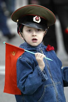 Image detail for -Russian child watches the military parade in the Red Square in ...
