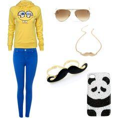 """Bob/ Mustache/ Panda"" by amandaagcs on Polyvore"