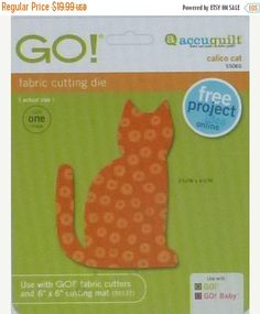 New Year SALE Accuquilt GO! Calico Cat #50065, Fabric Cutter Die,Fast Shipping, AC122