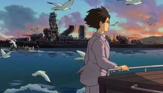 Disney revealed release plans today for Hayao Miyazaki's The Wind Rises at the Toronto International Film Festival. Here are the dates: The film is slated for limited release in North … Continued Studio Ghibli Art, Studio Ghibli Movies, Jiro Horikoshi, Le Vent Se Leve, Se Lever, Wind Rises, My Neighbor Totoro, Hayao Miyazaki, Animation Film
