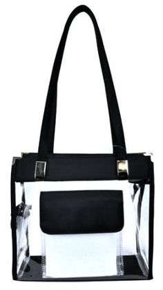 Clear Handbag with Front Pocket - 12 in Wide --- http://www.pinterest.com.luvit.in/5ij