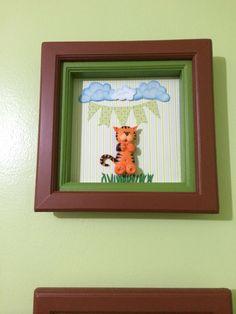 Tigre ceramica en frio