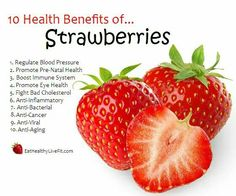10 benefits of eating strawberries