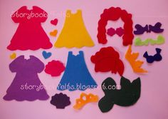 Storybook Felts Felt My Little Mermaid Princess Dress Up Clothing Set  21 PCS Made To Order