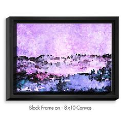"DiaNocheDesigns 'Midnight Mood' by Iris Lehnhardt Painting Print on Wrapped Framed Canvas Size: 25.75"" H x 37.75"" W x 1.75"" D, Frame Color: Black"