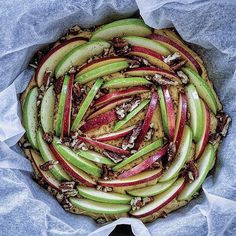 Skillet Green And Red Apple Cake