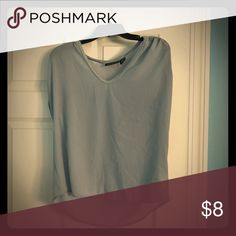960a76d8fdcc13 Blouse material. Great for business gatherings. Very lightweight. Great for  any season. Short sleeves , sheer arms. DKNYC Tops Blouses