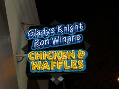 Gladys Knight's Chicken Waffles Restaurant in Atlanta Georgia.had Rosco's chicken and waffles in CA. Atlanta Eats, Atlanta Food, Atlanta Restaurants, Atlanta Georgia, Chicken And Waffles Restaurant, Places To Eat, The Places Youll Go, Gladys Knight, Ga In