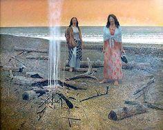 Tom Forrestall - Beach in the Morning Alex Colville, Atlantic Canada, Magic Realism, Prince Edward Island, Newfoundland, Nova Scotia, Northern Lights, Toms, Fine Art