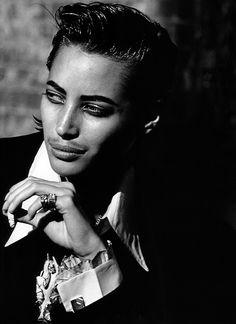 Peter Lindbergh, Christy Turlington, Vogue Italia, Omaggio allo stille di Al Capone, February 1991