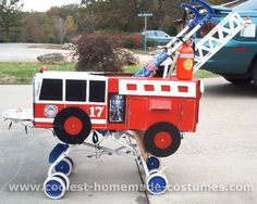 10 Coolest Stroller Costume Ideas for Halloween! Stroller Halloween Costumes, Stroller Costume, Family Halloween Costumes, First Halloween, Holidays Halloween, Halloween Ideas, Halloween 2014, Baby Costumes, Firefighter Family