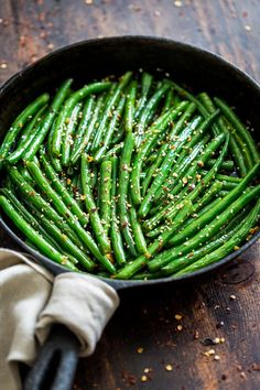 These Sesame Ginger Glazed Green Beans are a great side dish for a lot of Asian inspired main dishes, but they're also absolutely perfect for my Slow Cooker Chinese 5 Spice Pulled Pork. They're quick and easy to make, dairy free, gluten free, and paleo. Side Dish Recipes, Vegetable Recipes, Asian Recipes, Vegetarian Recipes, Cooking Recipes, Healthy Recipes, Food Dishes, Main Dishes, Vegetable Side Dishes