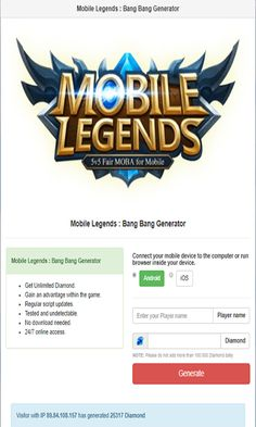 Mobile Legends Hack Generator — Mobile Legends Free Diamonds Mobile Legends Hack 2019 Updated Generator — How to Get Unlimited Diamonds No Survey No Verification Mobile Legends Bang Bang Hack — Get. Episode Choose Your Story, App Hack, Game Resources, Iphone Mobile, Android Hacks, Free Gems, Hack Online, Mobile Legends, Bang Bang