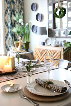 Simple Tablescape - The Inspired Room