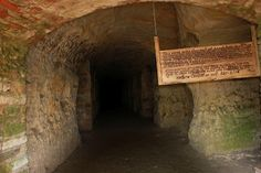 Quarry Hill, Rochester, Minnesota - sandstone cave carved out in 1882 by the patients of the Rochester State Hospital led by Thomas Coyne who thought of himself as Christ.