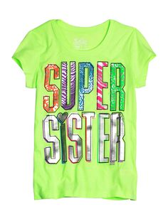 Super Sister Graphic Tee | Bffs And Faves | Graphic Tees | Shop Justice