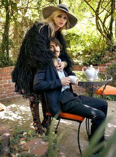 Sasha Pivovarova & Dhani Harrison photographed by Steven Meisel and styled by Edward Enninful Images originally published in Fashion Rocks! 2008