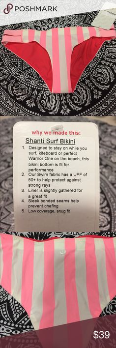 Lululemon Shanti Surf Bikini Lululemon Shanti Surf bikini. New with tags. Color code is STBE/BLEC. No trades! PRICE IS FIRM! lululemon athletica Swim One Pieces