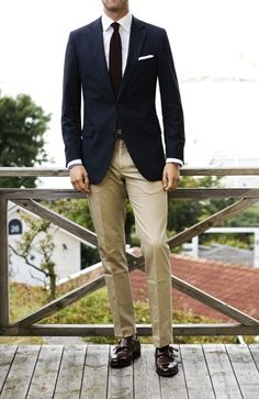 Simple, classic prep look taken up a notch with monk strap shoes.