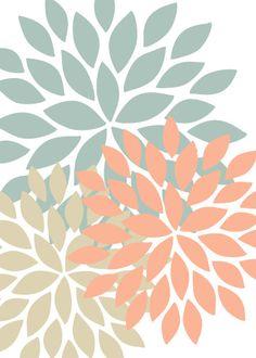 Flower Bursts Abstract Digital Fine Art Set of 3 Flower Phone Wallpaper, Star Flower, Mosaic Glass, Pattern Wallpaper, Diy Art, Fine Art Paper, Wall Art Prints, Flowers, Artwork
