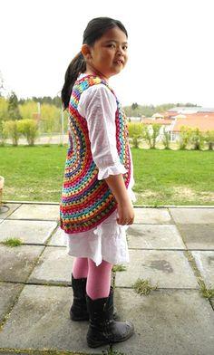Cute crocheted vest or beautiful floor rug...~Emi